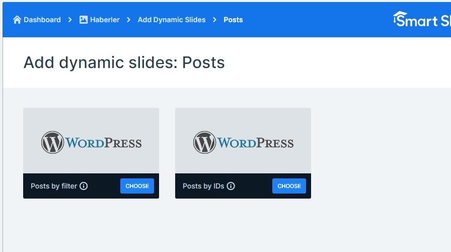 Wordpress add dynamic slides posts