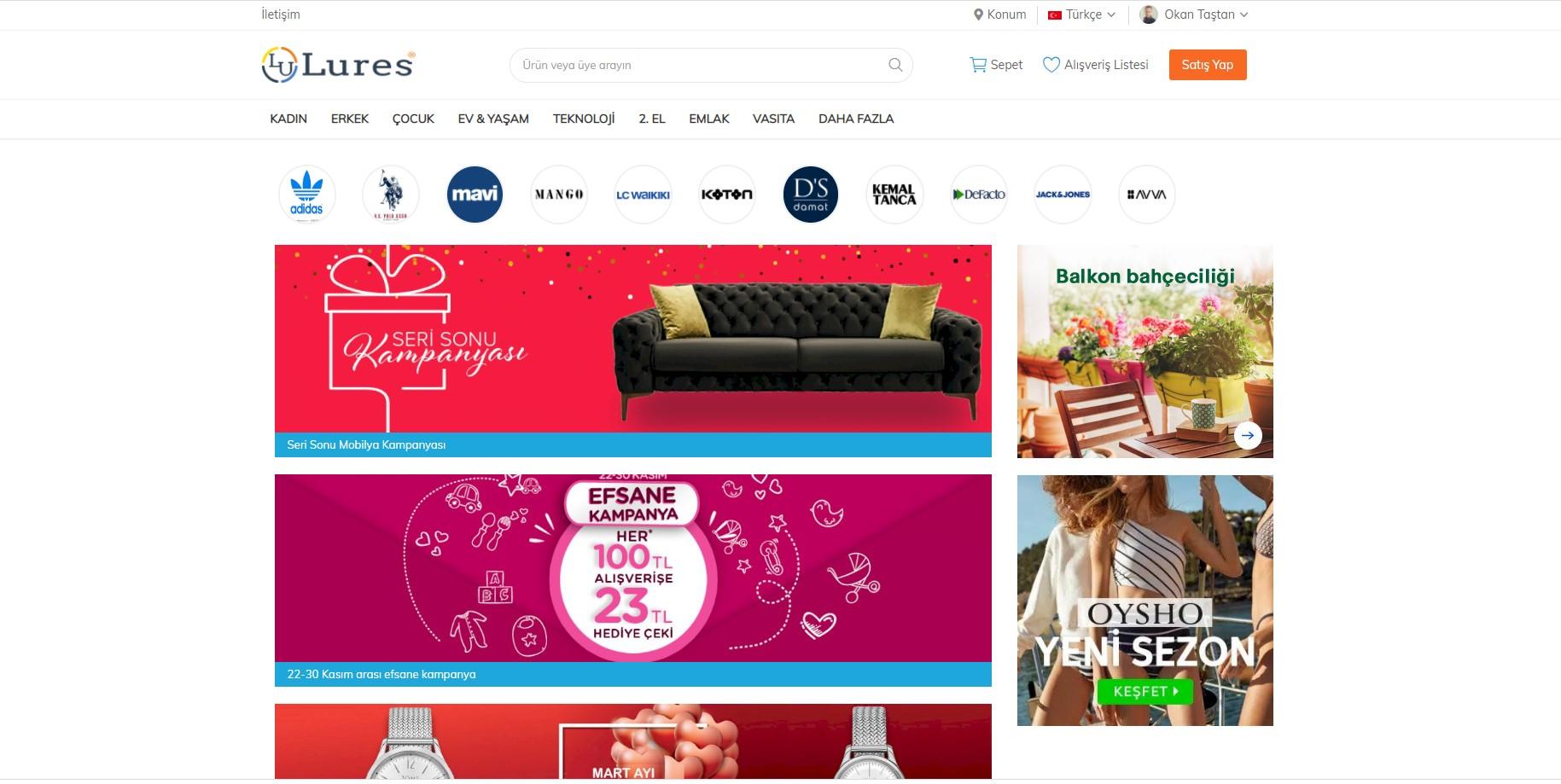 Lures.com.tr E-Ticaret Referansı